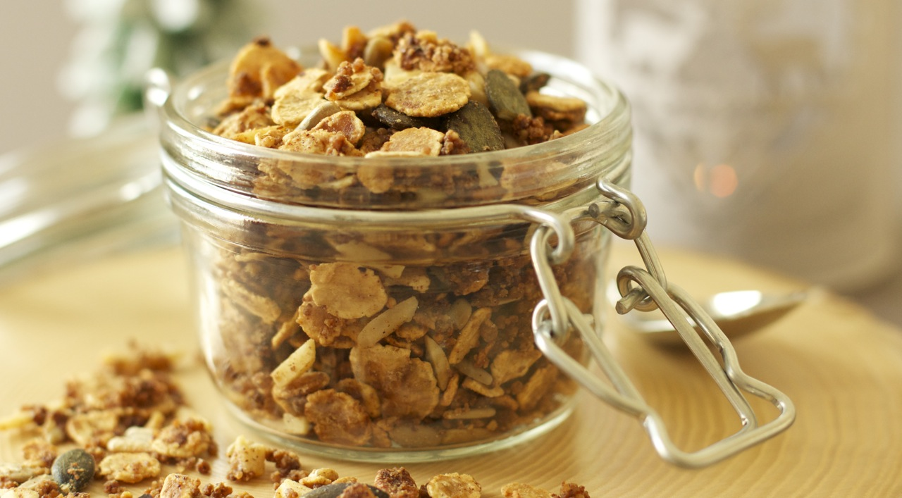 Granola la ch taigne sans gluten nos recettes - Recette chataigne a la poele ...